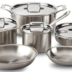 all clad pot and skillet cookware with lids