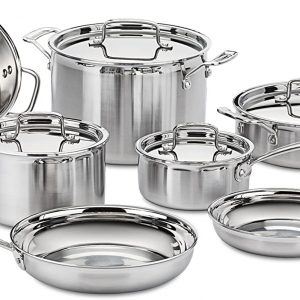 stainless steel pot and skillet set