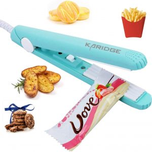 mini teal colored sealer with featured foods around to seal