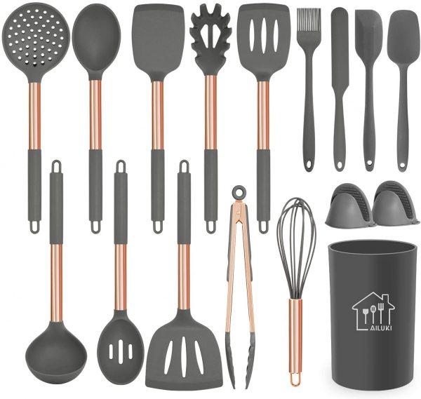 rose gold cookware utensils